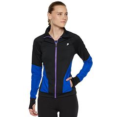 Women's FILA SPORT® Mesh Piecing Thumb Hole Jacket