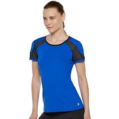 Women's FILA SPORT® Mesh Inset Short Sleeve Tee