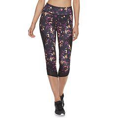 Women's FILA SPORT® Mesh Trim High-Waisted Capri Leggings