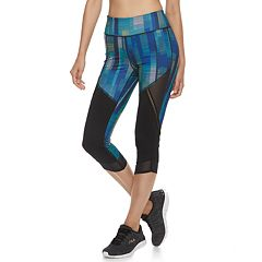 Women's FILA SPORT® Mesh Trim High-Waisted Capri Leggings