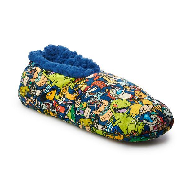Mens Nickelodeon Cartoon Character Plush Slippers