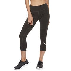 Women s FILA SPORT® Fleece Mid-Rise Capri Leggings. Black Heather. clearance aa8023fe09