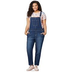 Juniors' Plus Size Wallflower Denim Overalls