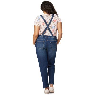 Juniors' Plus Size WallFlower Insta Stretch? Denim Overalls