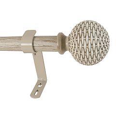 Decopolitan Woven Ball Drapery Rod Set - 36''-72''