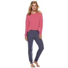 Women's SONOMA Goods for Life™ 2-piece Raglan Tee & Pants Pajama Set