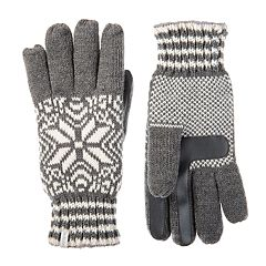 Women's isotoner SmartDRI Knit Snowflake Gloves