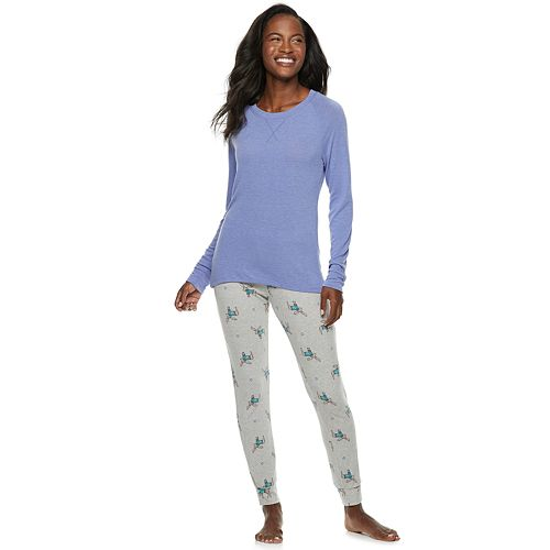 Petite SONOMA Goods for Life™ 2-piece Raglan Tee & Pants Pajama Set