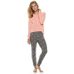 Petite SONOMA Goods for Life™ 2-piece Raglan Tee & Pants Pajama Set