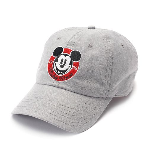Disney s Mickey Mouse 90th Anniversary Women s Embroidered Denim Baseball  Cap 8d4ee0a807c