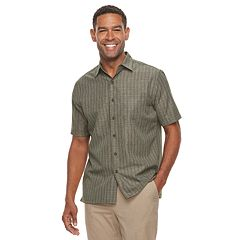 Men's Croft & Barrow® Classic-Fit Textured Microfiber Button-Down Shirt