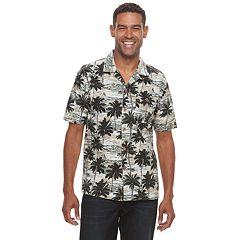 Men's Croft & Barrow® Short Sleeve Crosshatch Button-Down Shirt