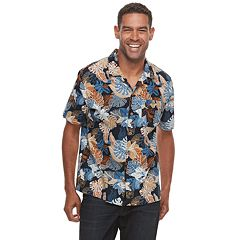 Men's Croft & Barrow® Short Sleeve Crosshatch Button-Down Shirt
