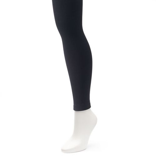 491276a791f Plus Size Apt. 9® Fleece-Lined Footless Tights