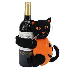 Celebrate Halloween Together Black Cat Wine Bottle Hugger