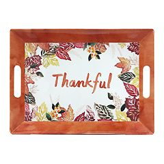 Celebrate Fall Together 'Thankful' Serving Tray with Handles