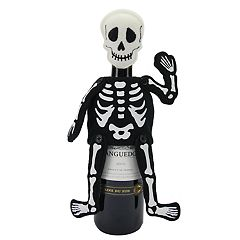 Celebrate Halloween Together Skeleton Wine Bottle Cover
