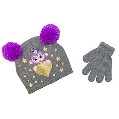 Girls 4-6x Fingerlings Hat & Gloves Set