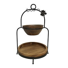 Celebrate Fall Together 2-tier Wooden Server