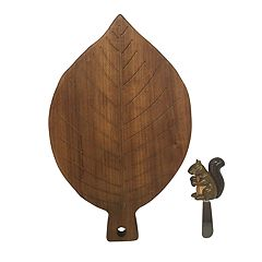 Celebrate Fall Together Wooden Cheese Board & Spreader Set