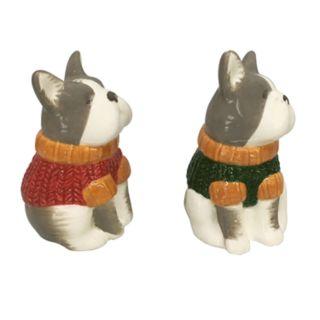 Celebrate Fall Together Dog Salt & Pepper Shaker Set