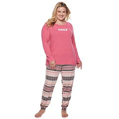Plus Size SONOMA Goods for Life™ 2-piece Raglan Tee & Pants Pajama Set