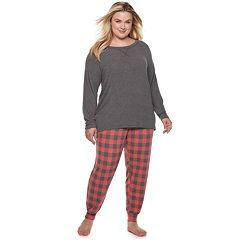 Plus Size SONOMA Goods for Life™ 2-piece Raglan Tee & Pants Pajama Set