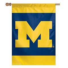 Michigan Wolverines Double-Sided Vertical Banner Flag