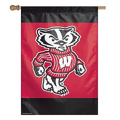 Wisconsin Badgers Double-Sided Vertical Banner Flag