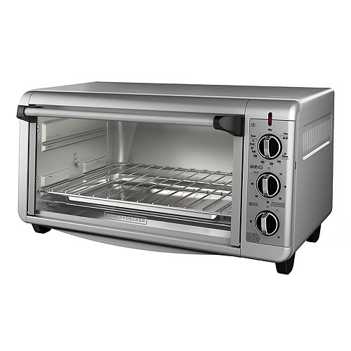 Black Amp Decker Extra Wide Countertop Convection Toaster Oven
