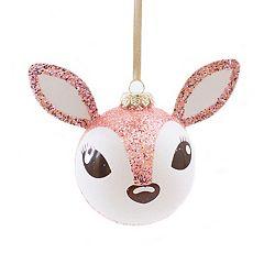 LC Lauren Conrad Glitter Deer Christmas Ornament