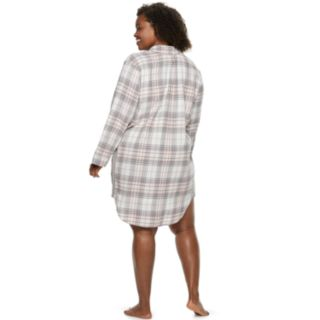 Plus Size SONOMA Goods for Life? Flannel Sleepshirt