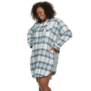 Plus Size SONOMA Goods for Life? Flannel Sleepshirt
