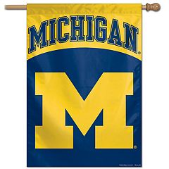Michigan Wolverines Vertical Banner Flag