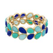 Napier Blue Teardrop Multirow Stretch Bracelet