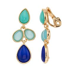 Napier Cabochon Drop Clip-On Earrings