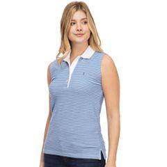 Women's IZOD Striped Pique Sleeveless Polo