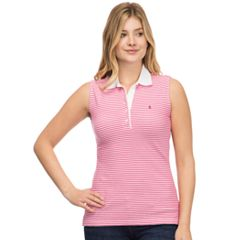 Women's IZOD Striped Pique Sleeveless Polo