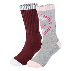 Girls 7-16 Converse 2-pack Chuck Patch High Crew Socks