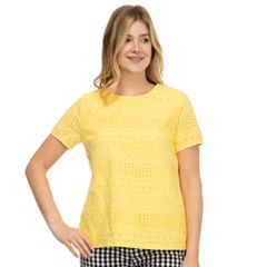 Women's IZOD Eyelet Pleat-Back Tee