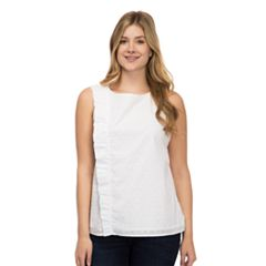Women's IZOD Swiss-Dot Ruffle Tank
