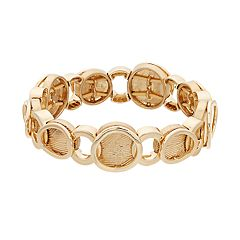 Napier Gold Tone Circle Link Stretch Bracelet