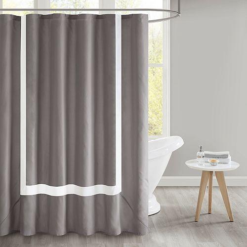 510 Design Hanson Pieced Border Shower Curtain & Liner