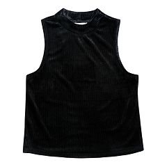 Girls 7-16 Maddie Mock Neck Cropped Tank Top