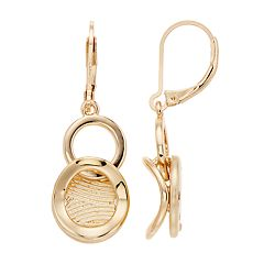 Napier Textured Linked Drop Earrings