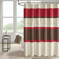510 Design Lecia Embroidered Shower Curtain & Liner