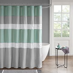 510 Design Irvine Pin tucked Shower Curtain & Liner