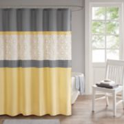 510 Design Shane Embroidered Shower Curtain & Liner
