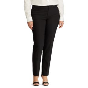 Plus Size Chaps Solid Straight-Leg Pants