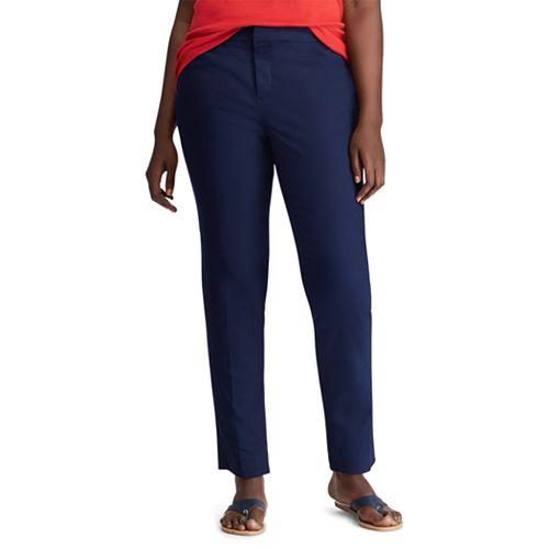 Plus Size Chaps Solid Straight-Leg Pants